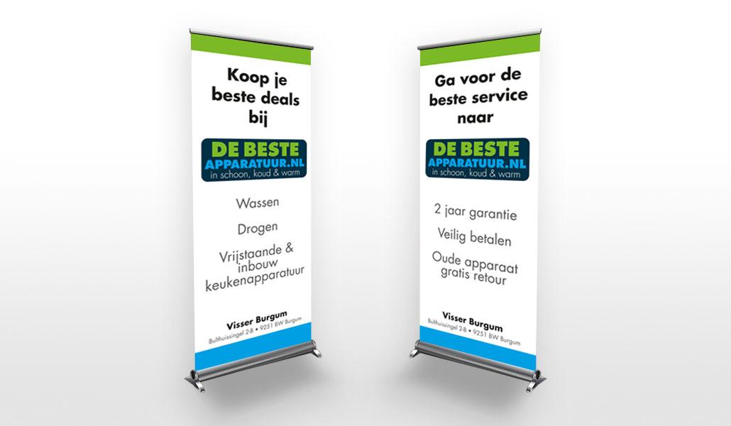 reclamebureau friesland grafisch ontwerp drukwerk roll-up banner