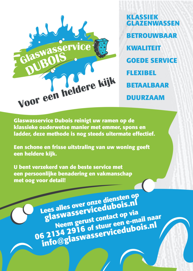 Reclamebureau Friesland - VORM ELEVEN CC Damwoude - Leeuwarden - Drukwerk - Flyer - Glaswasservice Dubois