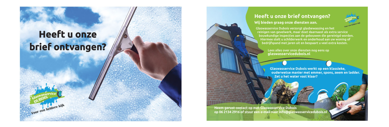 Reclamebureau Friesland - VORM ELEVEN CC Damwoude - Leeuwarden - Grafisch ontwerp - Internet marketing - Flyer - Glaswasservice Dubois