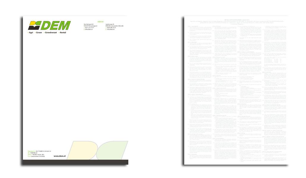 Reclamebureau Friesland-grafisch ontwerp-drukwerk-DEM BV Briefpapier VORM ELEVEN CC