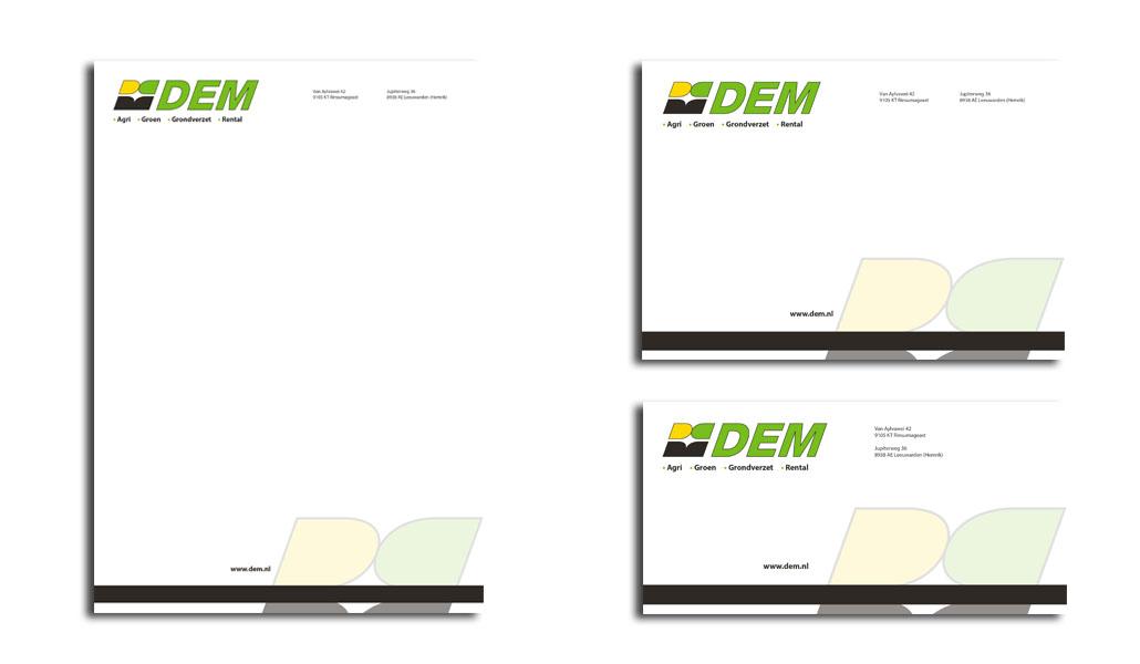 Reclamebureau Friesland-grafisch ontwerp-drukwerk-DEM BV Enveloppen VORM ELEVEN CC