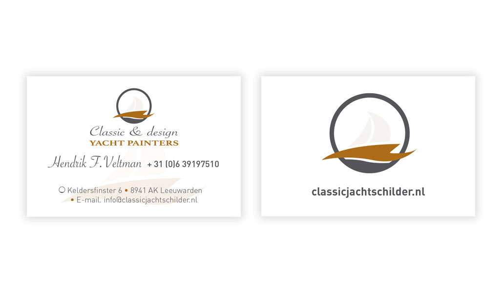 reclamebureau-friesland-damwâld-grafisch-ontwerp-logo-classic & design yachtpainters-vorm eleven cc-offerte